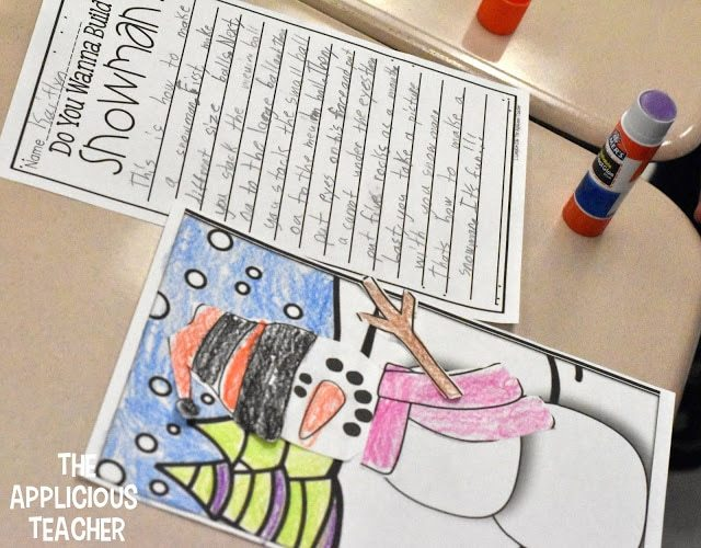 how to build a snowman activity