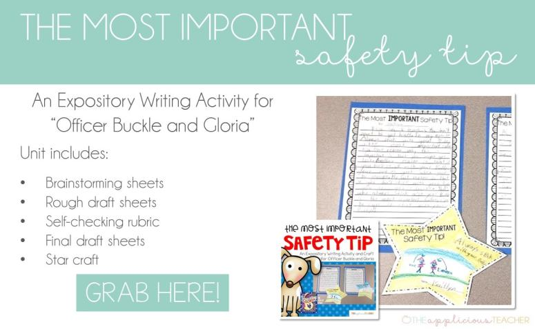 The Most Important Safety Tip writign activity