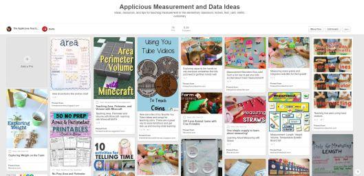measurement and data activity ideas (pinterest)