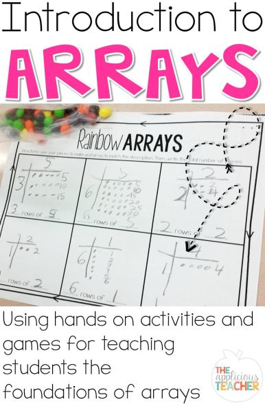 Introducing arrays is a perfect way to set students up for success with multiplication and division. Great post outlining how to build a thorough understanding of this simple mathematical concept