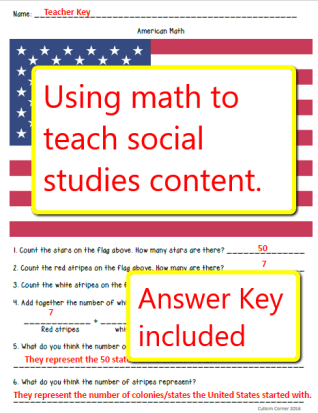 Use math to teach social studies content