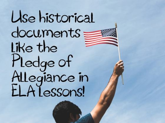Historical documents can be used during your ELA lessons