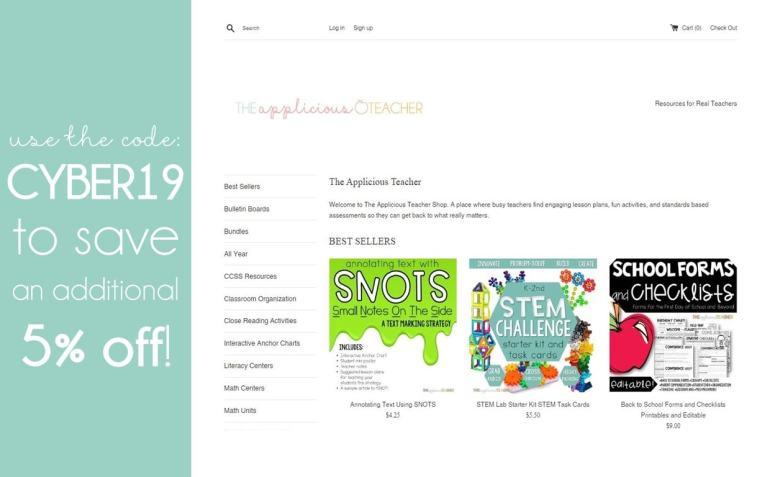 Shop the Applicious Teacher store