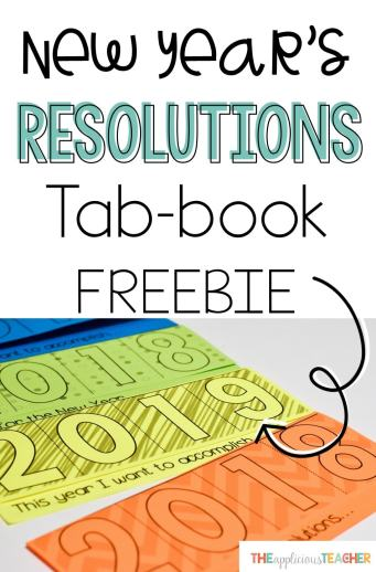 New Years Resolution Free printable. Perfect for when we get back from break!