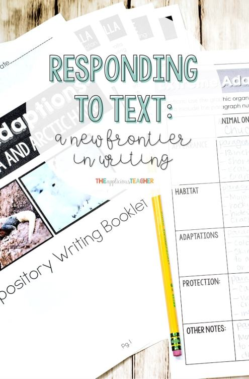 responding to text expository writing unit- 6 weeks of lesson plans, articles, mini lessons, rubrics, brainstorms and everyrthing else you need to teach your students. Great for citing evidence.