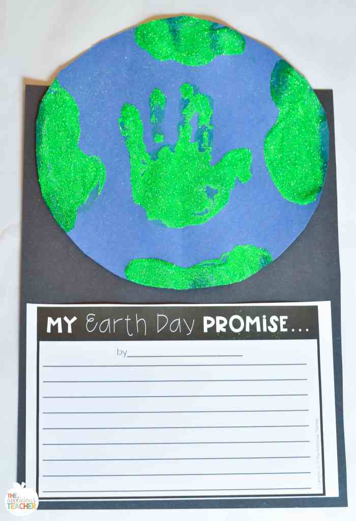 Earth day writing craft completed project