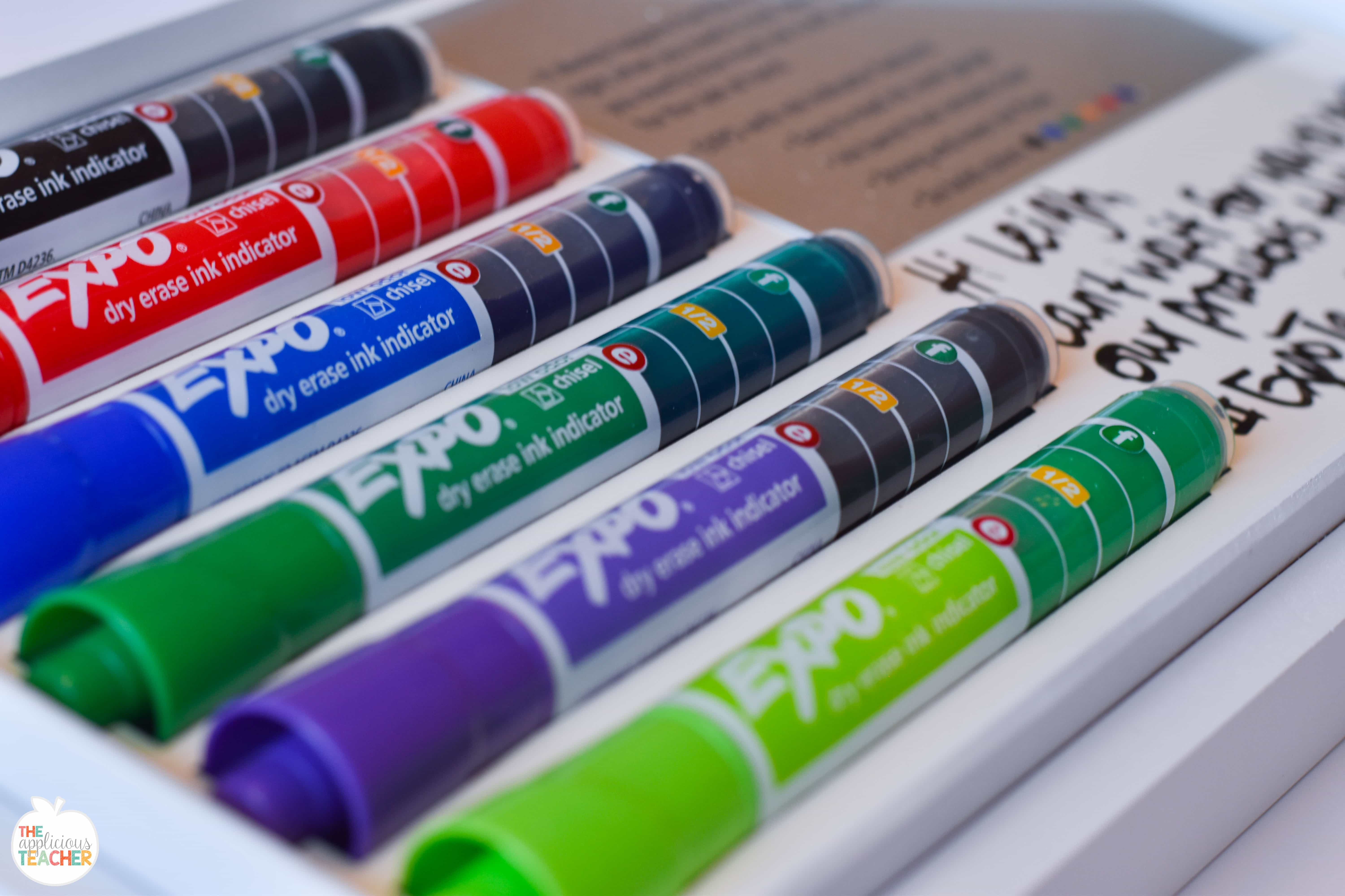 the expo dry erase marker with ink indicator