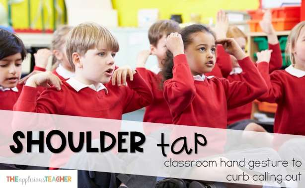 tired of the calling out? Use the shoulder tap symbol