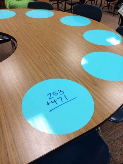 Use vinyl spots on your table or wall