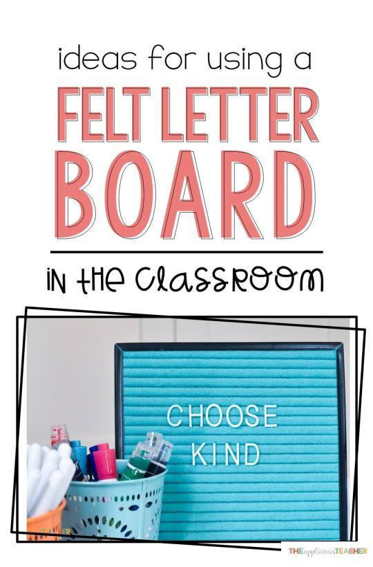 Felt letter board in the classroom. Great ideas on how to use felt letter boards in your classroom all year round!