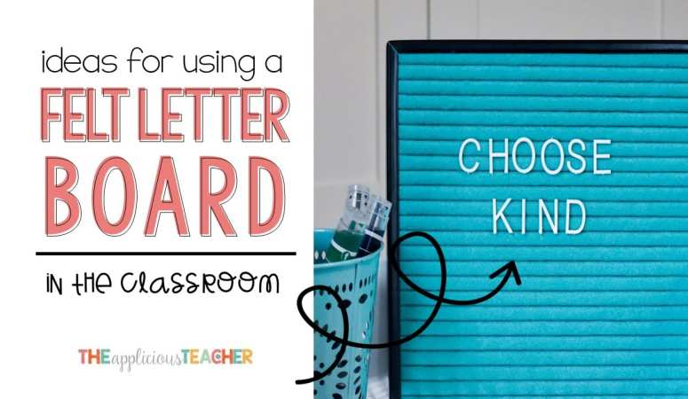 Felt Letter Board in the Classroom