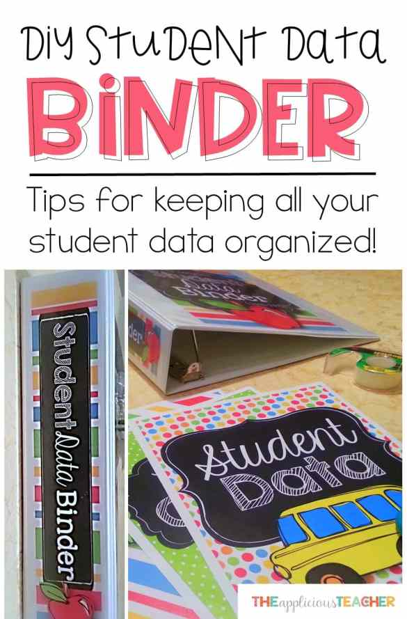 DIY Student Data Binder- Tips for creating your own student data binder so you can keep all that student data organized this school year!
