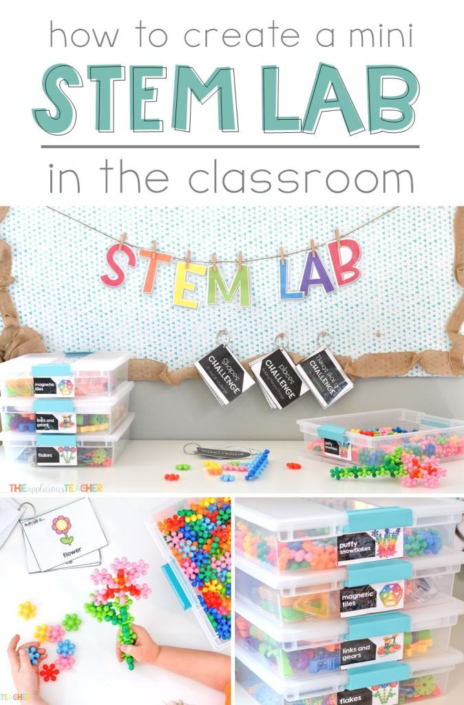 Bring STEM to your classroom everyday with a mini STEM Lab! Great post outlining the in's and out's of creating a unique and curiosity driven space! TheAppliciousTeacher.com