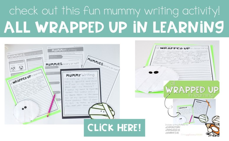 All Wrapped Up in learning- Mummy Writing Project Craft