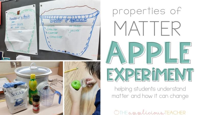 Properties of matter apple science experiment activities
