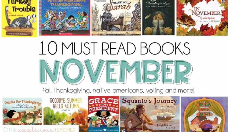 Must Read books for the month of November- Love all these diverse selections! TheAppliciousTeacher.com