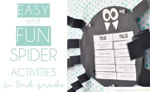 easy and fun spider activities for 2nd grade