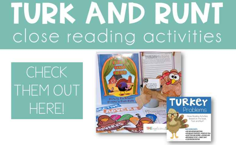 Turk and Runt close reading activities TheAppliciousTeacher.com