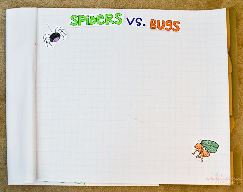 spiders vs. bugs interactive anchor chart