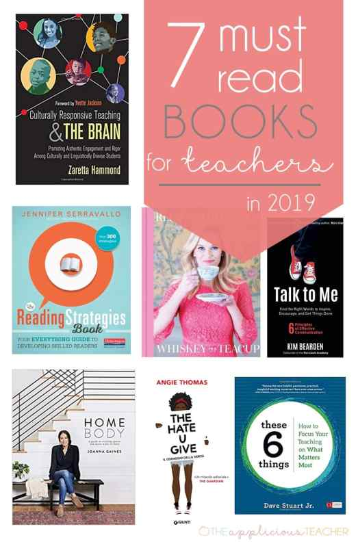 7 Must Read Books for Teachers Love these book suggestions for teachers in the new year! Some to get you thinking, so to make you better, and others are just fun! TheAppliciousTeacher.com