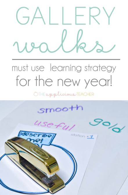 Gallery Walks: love this teaching strategy! This post outlines how to use this easy to implement strategy in reading, math, science AND social studies! Theappliciousteacher.com #gallerywalks #teachingstrategy #2ndgradereading #3rdgrademath