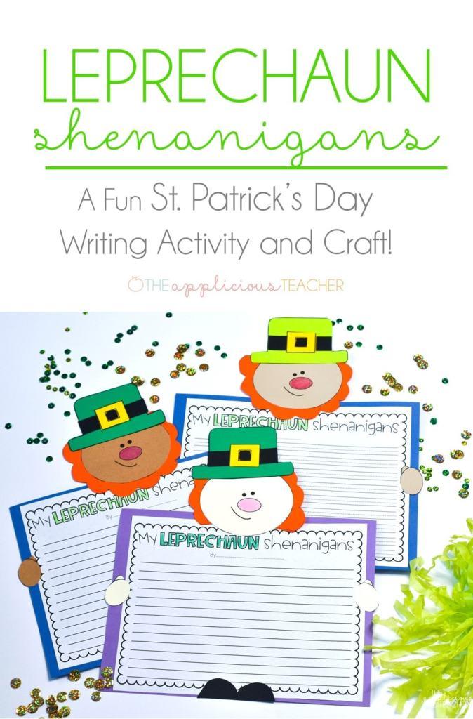 St Patrick's Day activity: My leprechaun shenanigans- super fun writing idea for St. Patty's day! #writing #2ndgrade #stpatricksdayactivities TheAppliciousTeacher.com