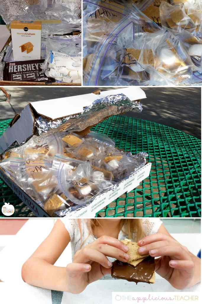 Easy Science experiment- S'mores- students use s'more to learn how the sun's energy can heat the earth- TheAppliciousTeacher.com #2ndgradescience #2ndgrade #science
