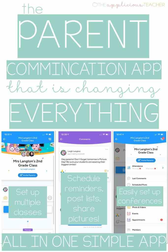 The Parent Communication App that Will Change EVERYTHING! TheAppliciousTeacher.com #parentcommunication #teachertechnology