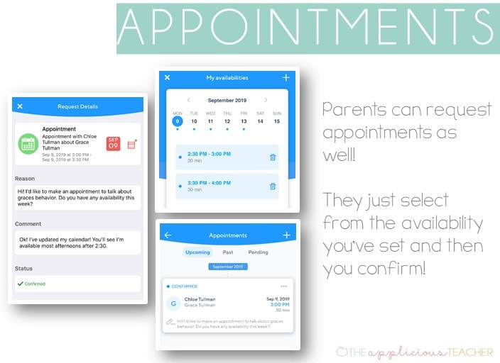 parents can easily set up appointments with you through Klassroom