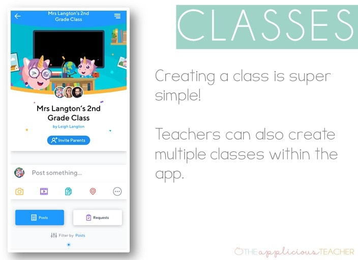 setting up classes is easy in the Klassroom App theappliciousteacher.com