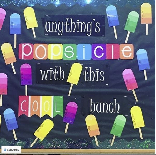 Anything's Popsicle bulletin board