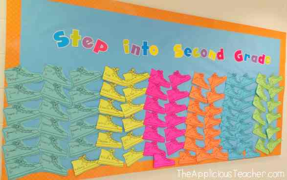 Step into 2nd Grade Bulletin Board