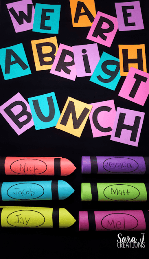 bright bunch bulletin board