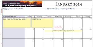 2014 Prepper Calendar