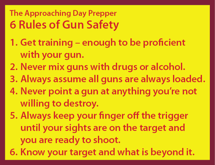 photograph about Printable Gun Safety Rules identify The Upcoming Working day Prepper 6 Pointers of Gun Protection - The