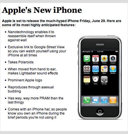 Onion iPhone specs