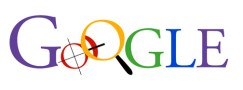 One of the early logo treatments for Google