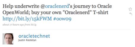 Help the ORACLENERD get to OOW