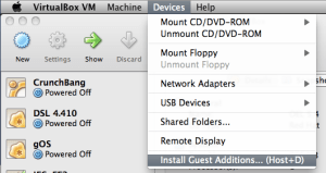 Install Guest Additions