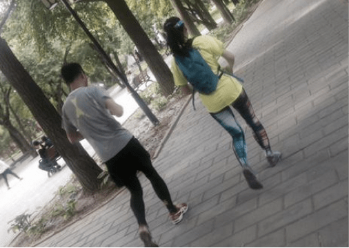 Running in Beijing. Scene from Temple of Sun Park.