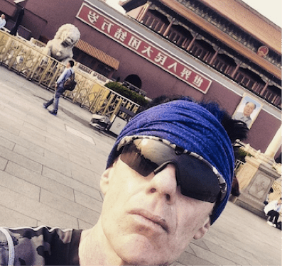 Running to the Forbidden City. Alas, selfie sticks were not forbidden.
