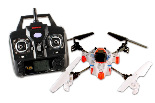 Syma X1: AA batteries not included.