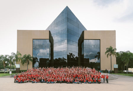 All of the crew of Oracle MDC pose in the annual photo taken at the event.