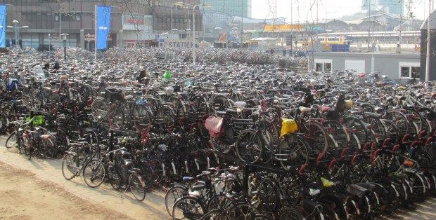 Bikes at Utrecht Train Station