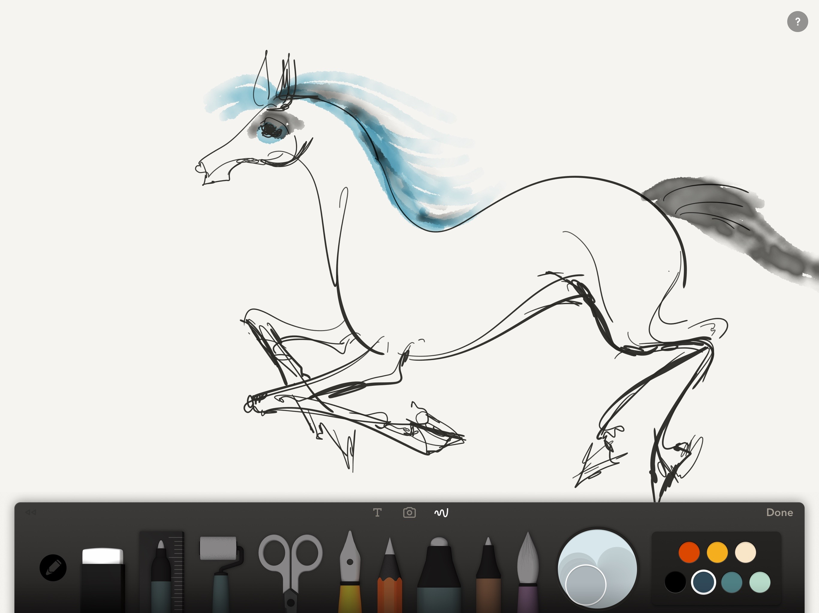 Coloring book for notability - Running Horse By Anna Budovsky