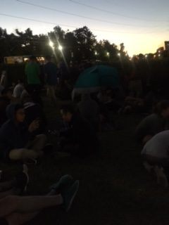 Crowd at a park playing Pokemon. Most of us have been here for at least 2 hours.