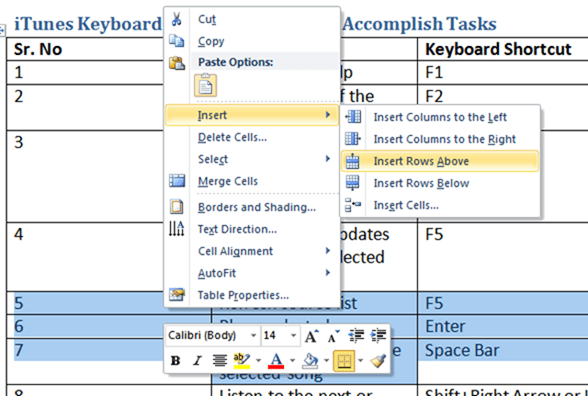 How to Add Multiple Rows in a Table in Word 2010