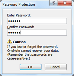 How to Password Protect OneNote Files