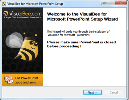 PowerPoint Add-In VisualBee installer