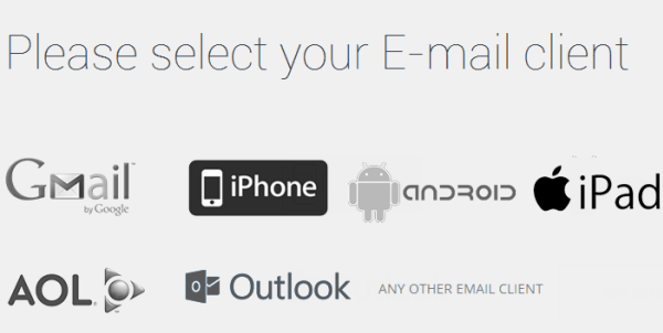 select an email client